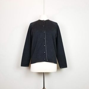 Vintage 50s Charcoal Gray Wool Button Jacket 40